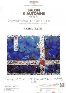 M.Akira SATO_Salon D'automne 2013