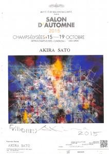 M.Akira SATO_Salon D'automne 2015