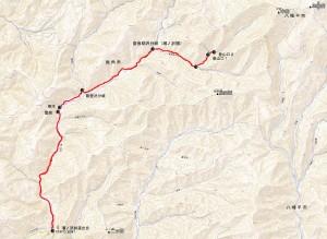 中岳奈良助沢登山口へのアクセス状況
